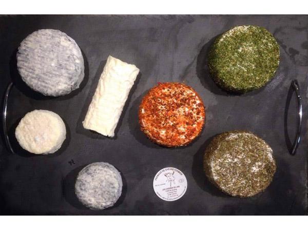 plateau fromages Chèvres de Jabi normandie
